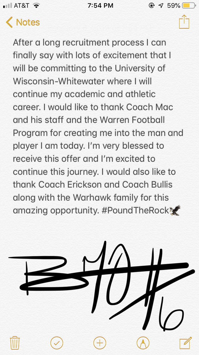 Blessed to say that I am committing to the University of Wisconsin-Whitewater! Thank you @RobErickson_UWW @Coach_Bullis