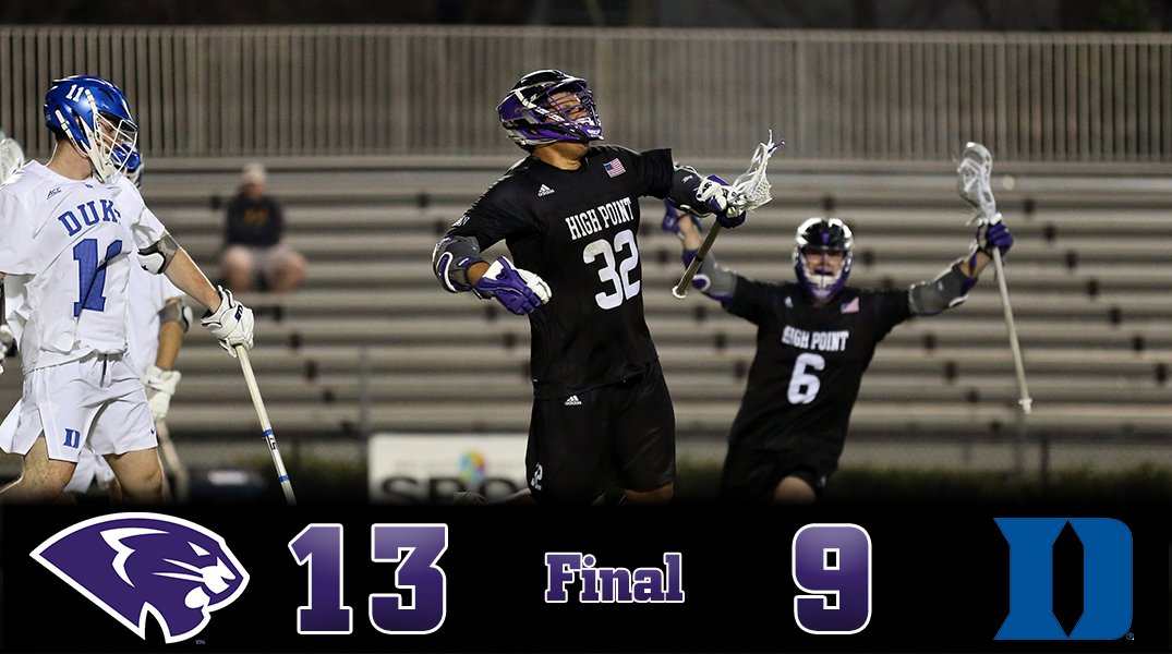 High Point Lacrosse >> High Point Lacrosse On Twitter Panthers Win High Point