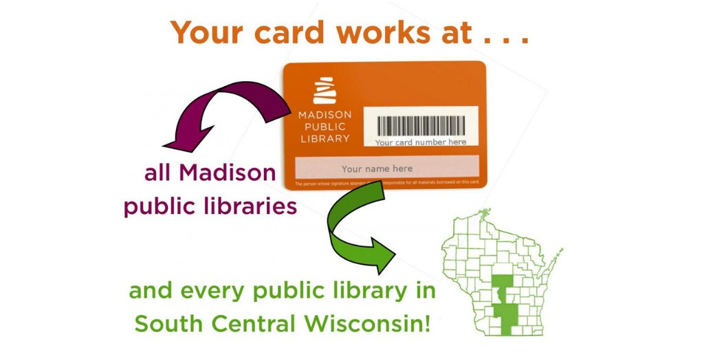Madisons Central Library Today Heres >> Madison Public Library On Twitter Did You Know Your Library Card