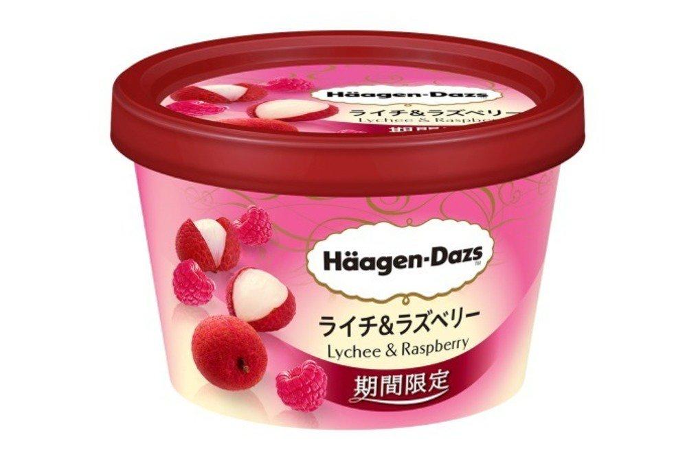 ハーゲンダッツ限定ミニカップ「ライチ&ラズベリー」甘酸っぱく心華やぐ、春だけのアイスクリーム -