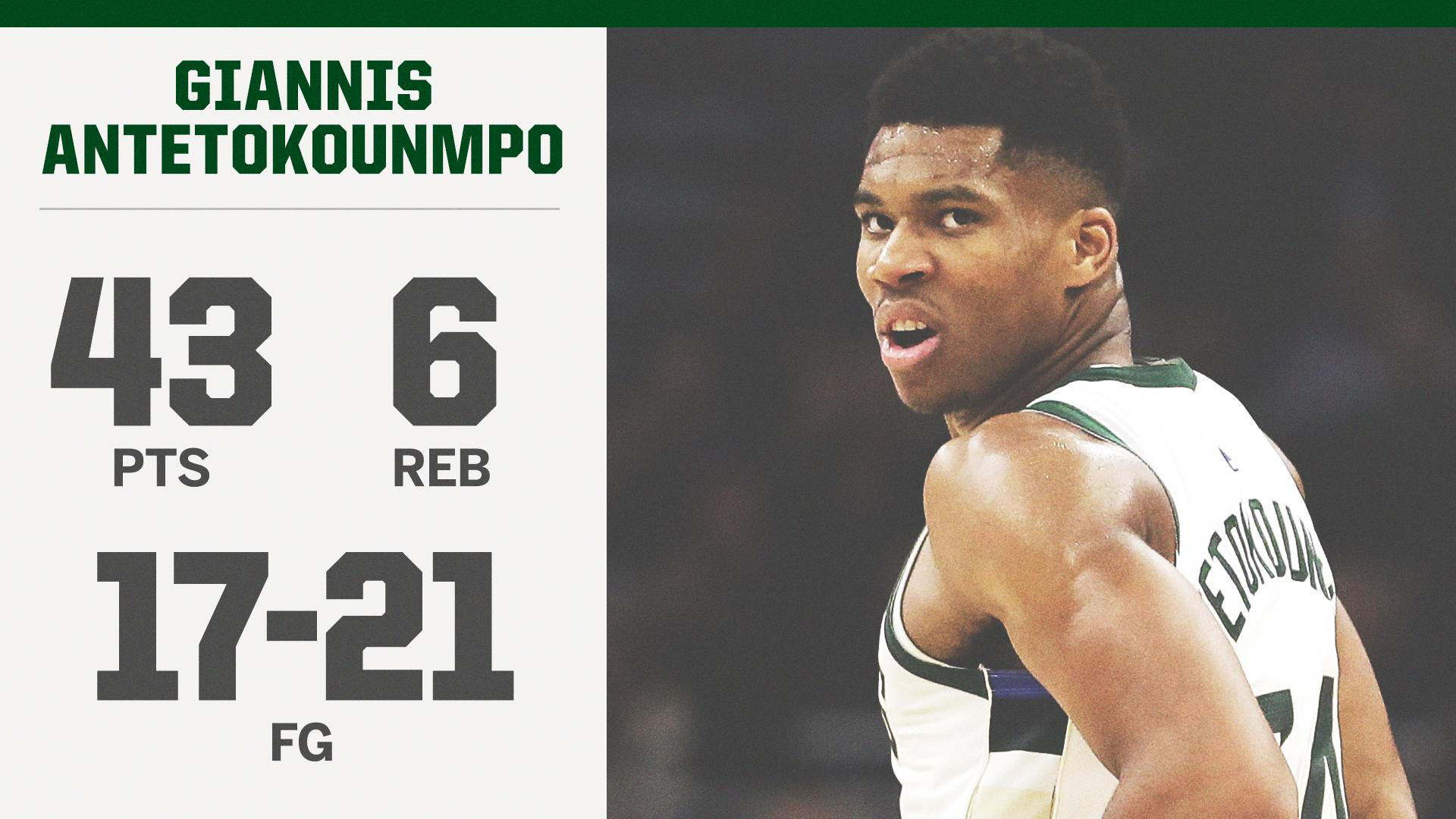 Giannis making a strong case for MVP �� https://t.co/PMcoxY7Faf