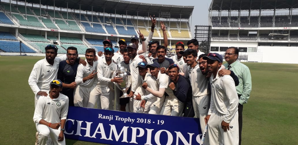Congratulating Vidarbha cricket team for winning Ranji Trophy for the second consecutive time. Captain Faiz Fasal and Coach C. Pandit deserve an applause.  Your achievement will not only inspire many more players, it will also refresh the entire sports fraternity of the region.