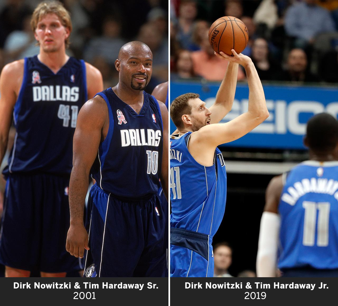 Two generations of Hardaways. Same ol' Dirk. https://t.co/6lq7qkc3an