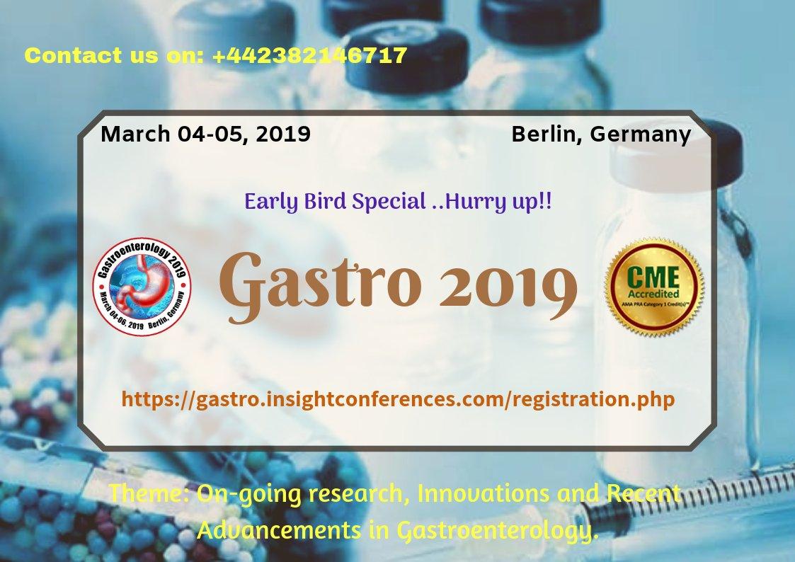 CME Gastro Conferences|Berlin|March 4-5, 2019 (@cmegastroconfer