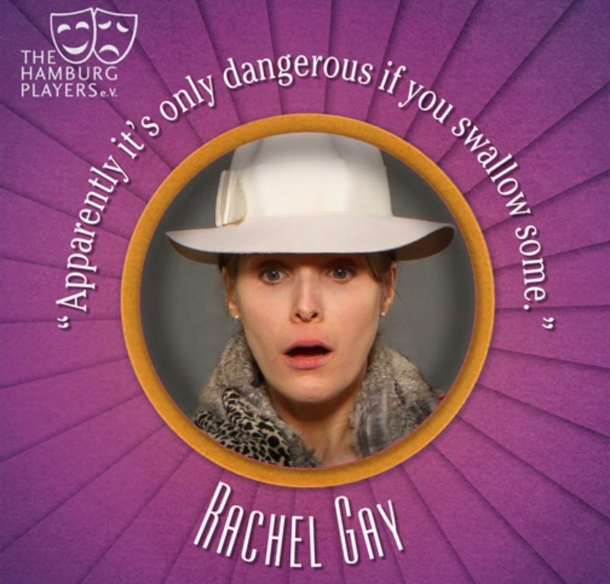 Another member of staff at Christophe et Cie, Rachel finds herself amongst the dangerous hierarchy of competitive sales ladies. And the frightful truth will, eventually, have to be swallowed... 13-23 February http://www.hamburgplayers.de/current-production… #theatre #deathinhighheels #theaterinhamburg pic.twitter.com/nf7aZMqrLt