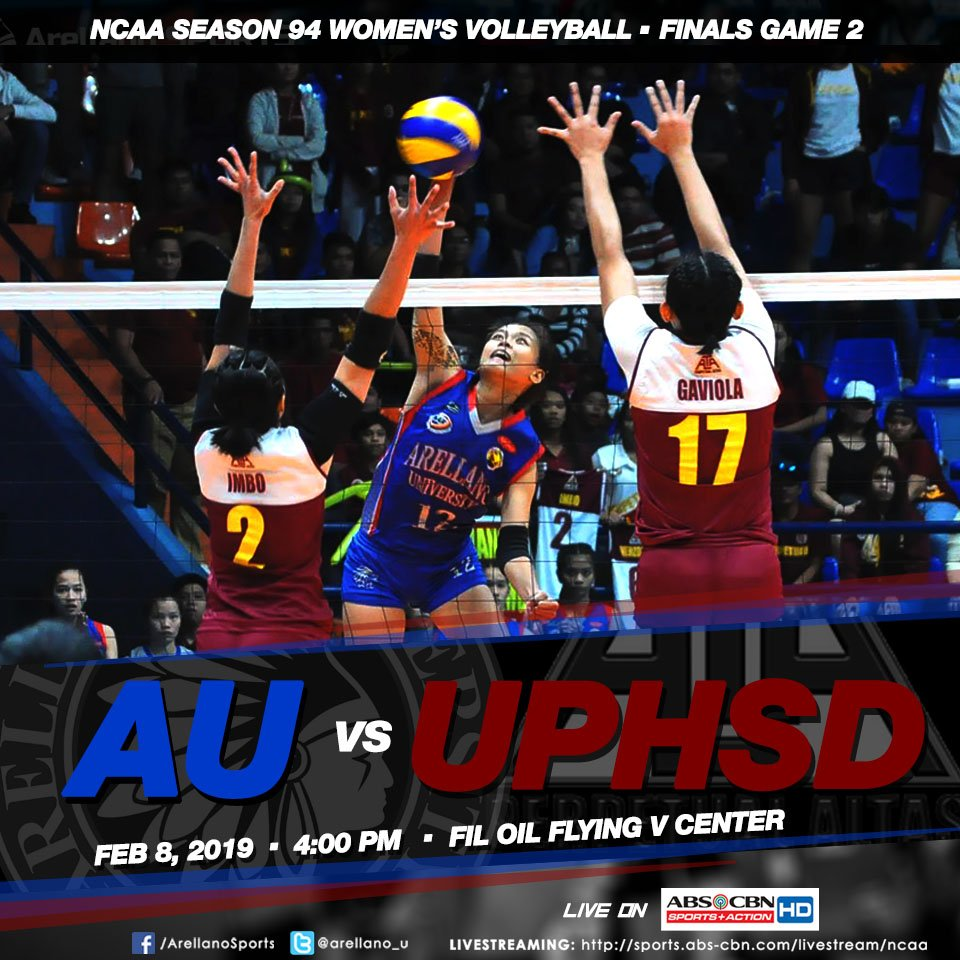 Arellanites! The Lady Chiefs need yours support tomorrow as they battle for the 3 peat title! It's a do-or-die! Like&amp;Share for goodluck  #NCAASeason94 <br>http://pic.twitter.com/FZQmPb7Crd