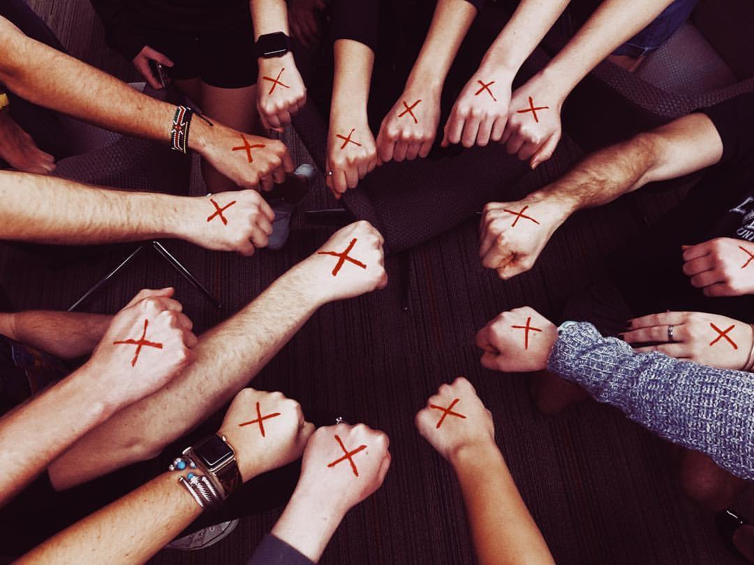 Its officially SHINE A LIGHT ON SLAVERY DAY on the West Coast! TODAY our red ❌s are BOLD and our VOICES are LOUD. Slavery is illegal in every country in the world, yet still exists in 167 countries, accounting for 87% of nations across the globe. ❌#enditmovement