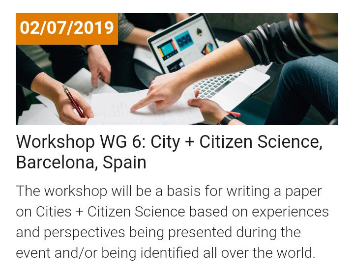 "test Twitter Media - Today, #captorproject presentation in the Workshop ""City + Citizen Science"" organised within the frame of the Barcelona Science Biennale. Don't miss it!  ⏰ 14h 📍Espai Francesca Bonnemaison  More information: https://t.co/lw2e546xwy #CiutatiCiència #CityplusCitizenScience https://t.co/O031zoc2vT"