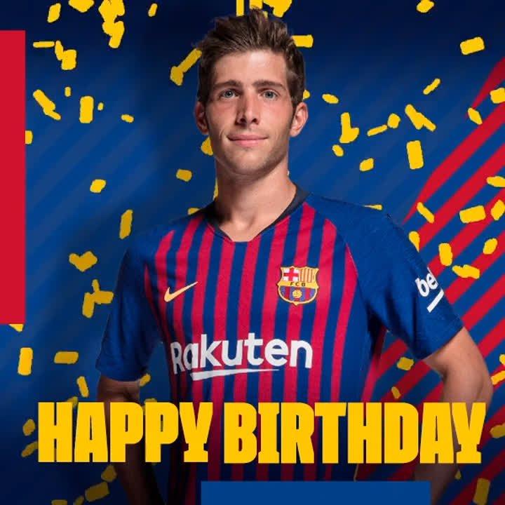🎂 Happy birthday, @SergiRoberto10! 🎂  🎁 Leave your birthday messages