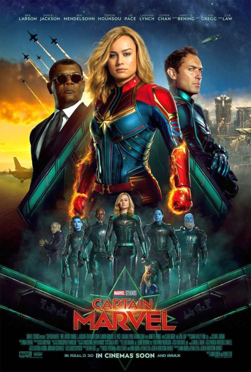 Captain Marvel Super Bowl Spot & International Poster Revealed