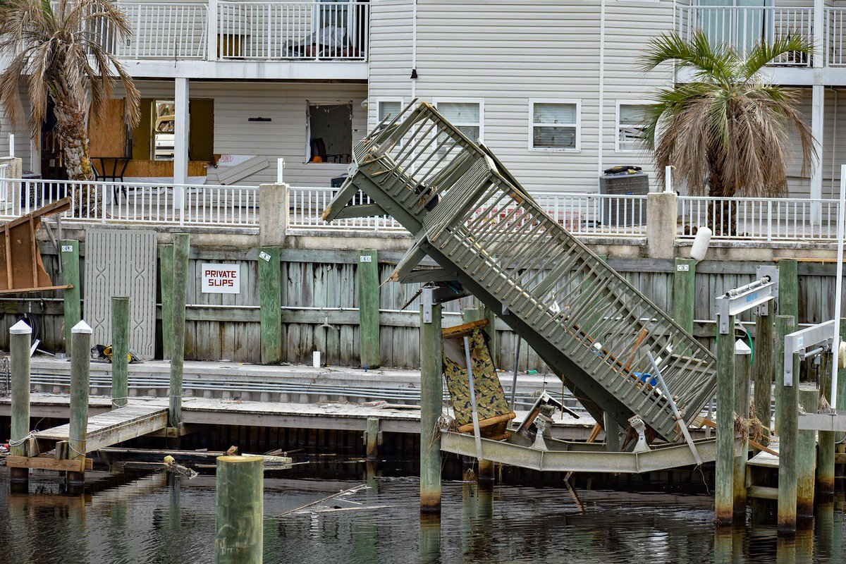 Hurricane Michael&#39;s destructive force and impact is evident in these photos taken on Nov 6, 2018 in Mexico Beach by @AhowardFPEM<br>http://pic.twitter.com/lvQvGBras8