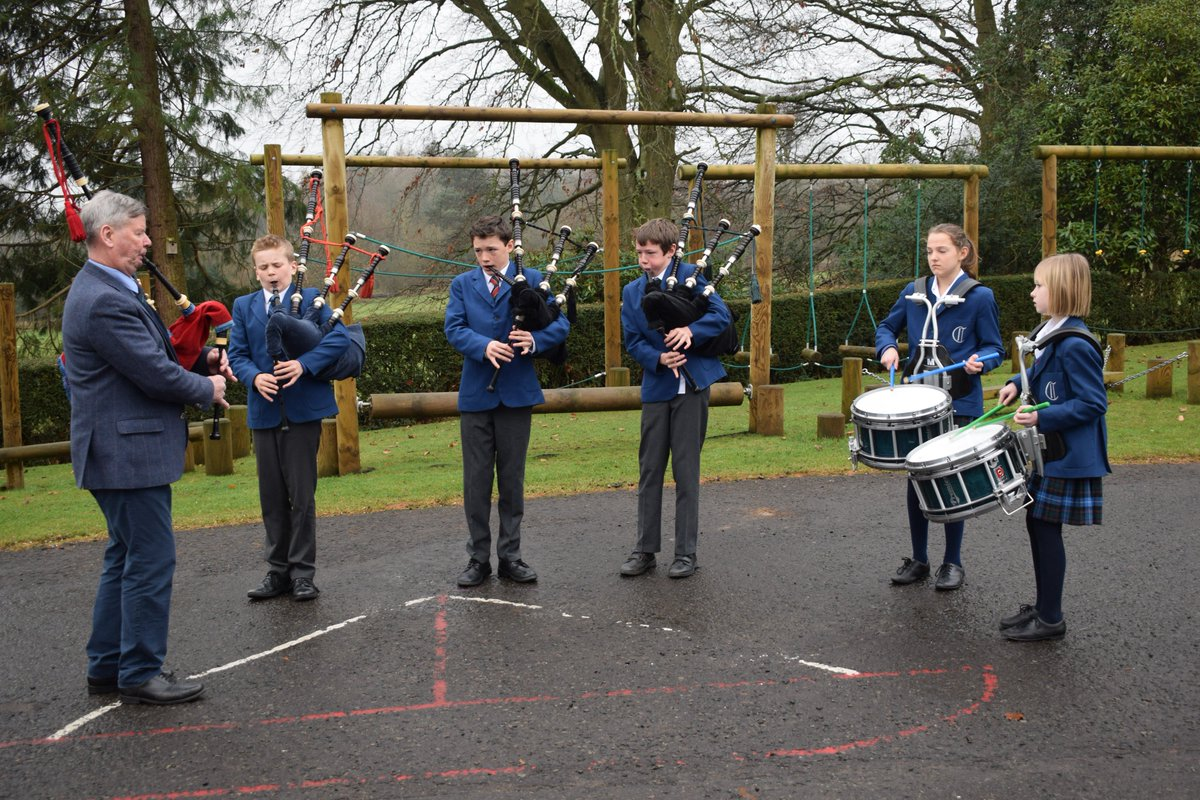 We had one of our busiest ever Open Mornings today & it was lovely to meet so many parents. We hope you enjoyed your visit and look forward to hearing from you. Some of our musicians played for our visitors at break time and Freddie was on parade on the pipes for the  first time.