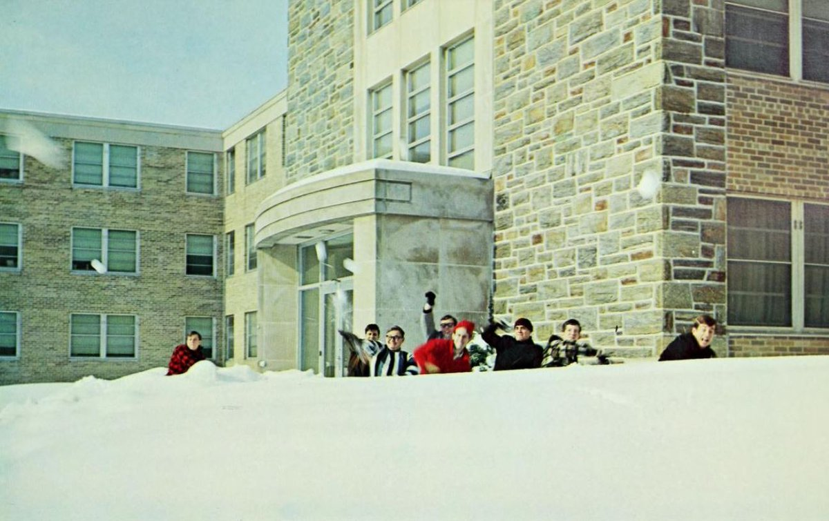 You're never too old for a snowball fight! #tbtgoldendays #throwback #1966