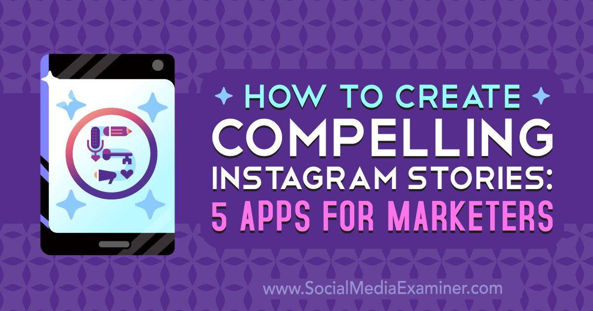 Do you want to create stronger Instagram story content? Looking for tools to help enhance and edit your stories? In this article, you'll find five Instagram Stories apps for creating an attractive and engaging story.   via @SMExaminer https://buff.ly/2RqBwmZ   #InstagramMarketing