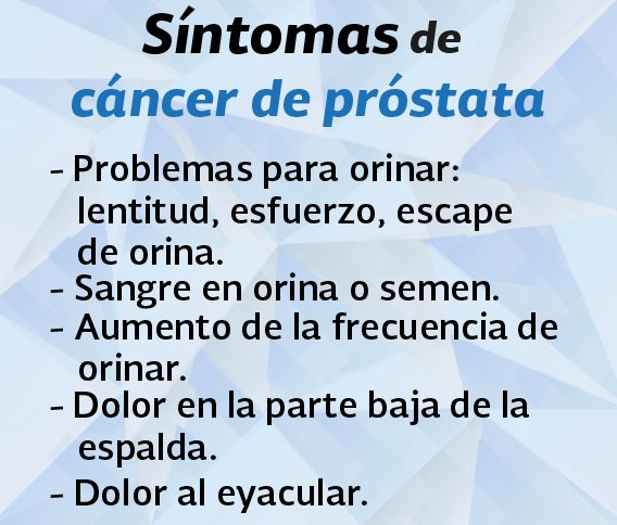 la sangre en la orina es un síntoma de cáncer de próstata