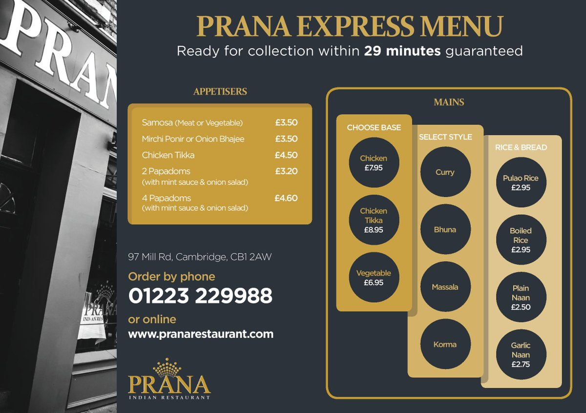 Learn More Bitly PranaExpress Cambridge Trumpington Cherryhinton Newnham 15 Discount For Orders Collected By 7pm
