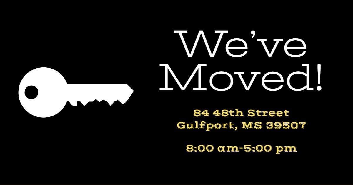 My Gulf Coast district office has moved to Gulfport!   New address: 84 48th Street Gulfport, MS 39507