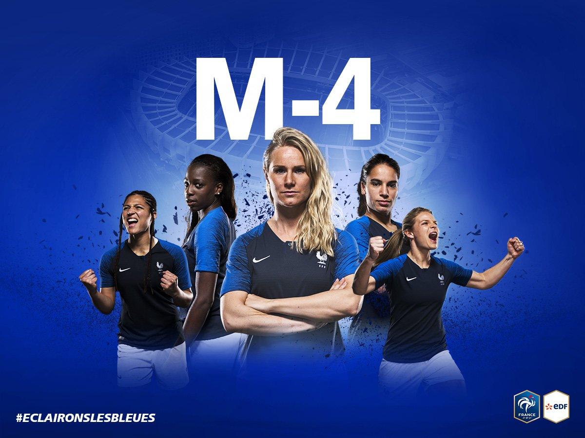 La Coupe du Monde démarre dans 4 mois ! 🇫🇷⚽ On a hâte de voir les Bleues briller 😃🌟 #EclaironsLesBleues