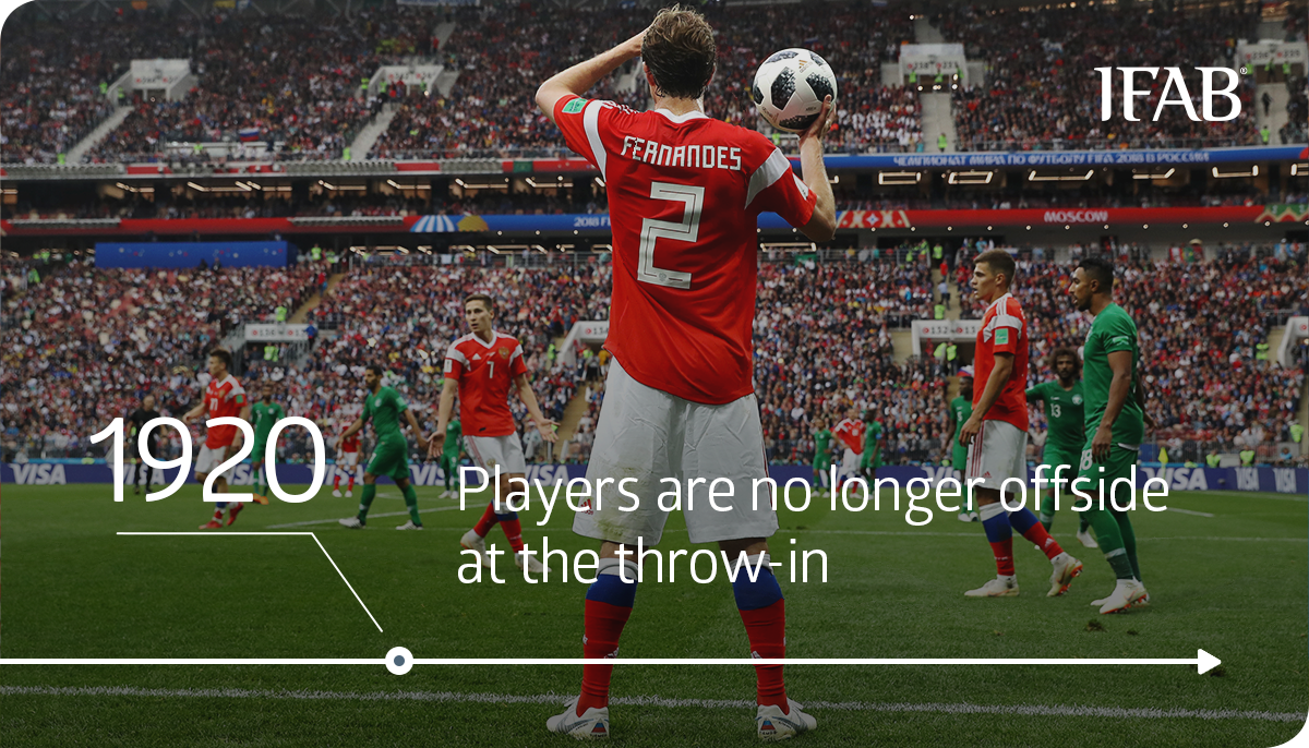 HOW FOOTBALL HAS CHANGED?   There is no offside offence if a player receives the ball directly from: ➡ a corner kick – since 1880s ➡ a throw-in – since 1920   Read more: http://bit.ly/History_of_Laws   #ThrowbackThursday #LawsOfTheGame