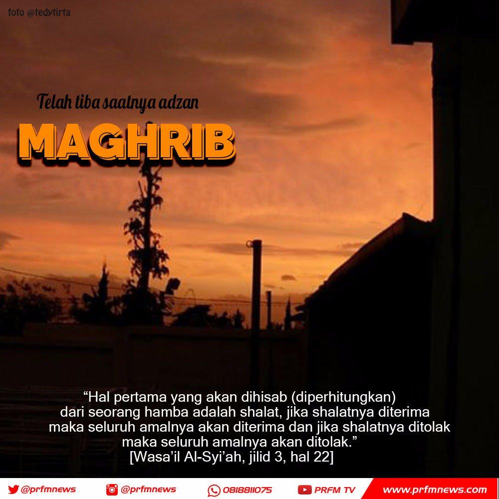 Radio Prfm Bandung Sur Twitter Telah Tiba Waktunya Adzan