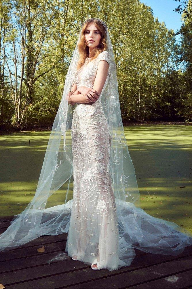 04f2df124d61b موديلات طرحة عروس خليجية طويلة 2019