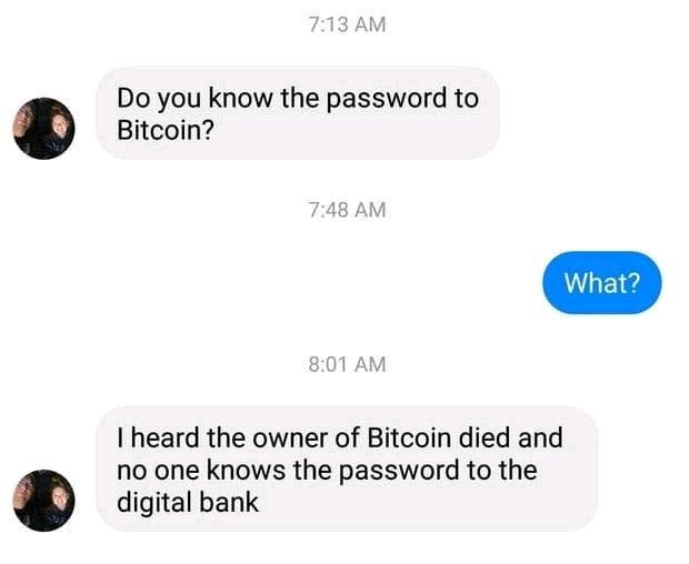 Do you know the password to Bitcoin?