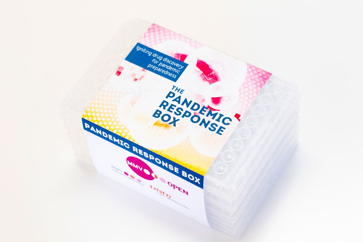 Are you working on #drugdiscovery for infectious & neglected diseases? Together with @MedsforMalaria, we launched the Pandemic Response Box containing 400 structurally diverse antibacterial, antiviral & antifungal compounds. Request a box free of charge: https://bit.ly/2B6LYWA