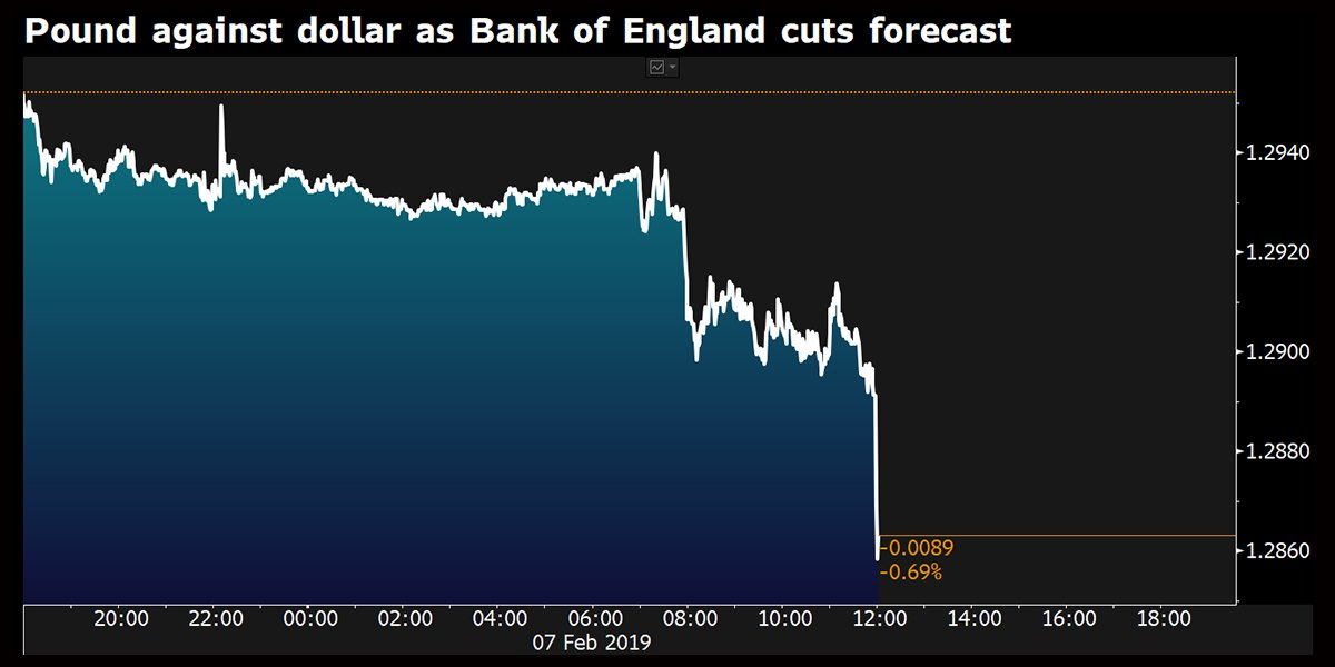 Bank of England governor warns no-deal Brexit could cause