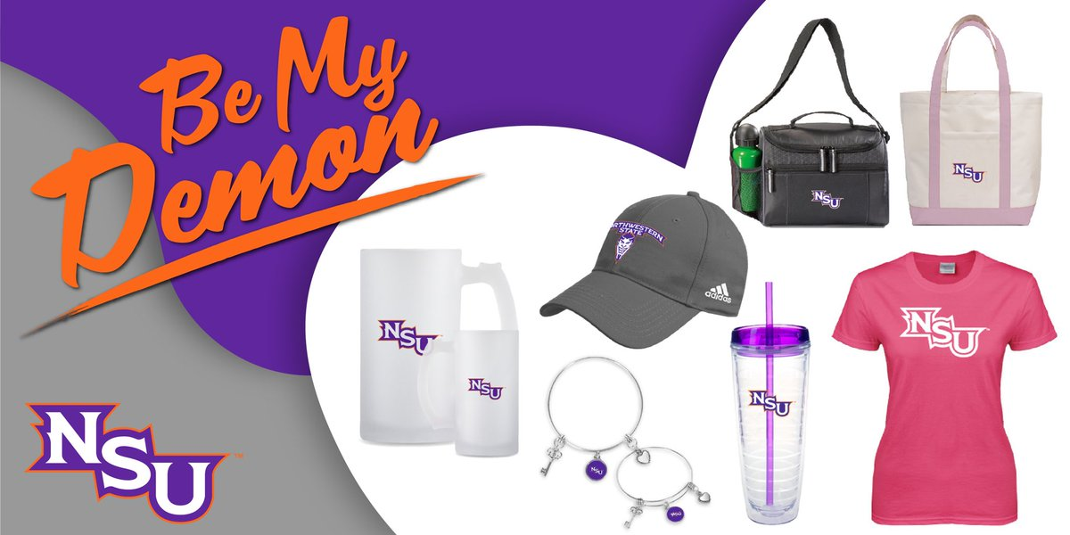 Relationships can be hard, but choosing your Valentine's gift should be easy. Take care of the NSU fan in your life with these great gifts and more. #BeMyDemon #ValentinesDay  💜😈🤘🏼 🔗 https://www.bkstr.com/northwesternstateustore/shop/apparel-and-accessories/womens …
