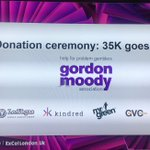 Image for the Tweet beginning: .@GordonMoody gets 35k raised by