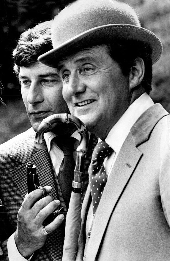 #PatrickMacnee and #GarethHunt seperated by 20-years (1922 & 1942) but celebrated their birthdays only a day apart, (February 6th & 7th). Remembering John #Steed & Mike #Gambit. Happy Birthday gentlemen! #TheAvengers #TheNewAvengers