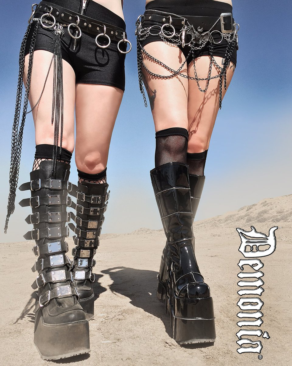 4000bf049fc5 Stand tall with confidence in platform boots from Demonia!  shoes  shopping   newshoes