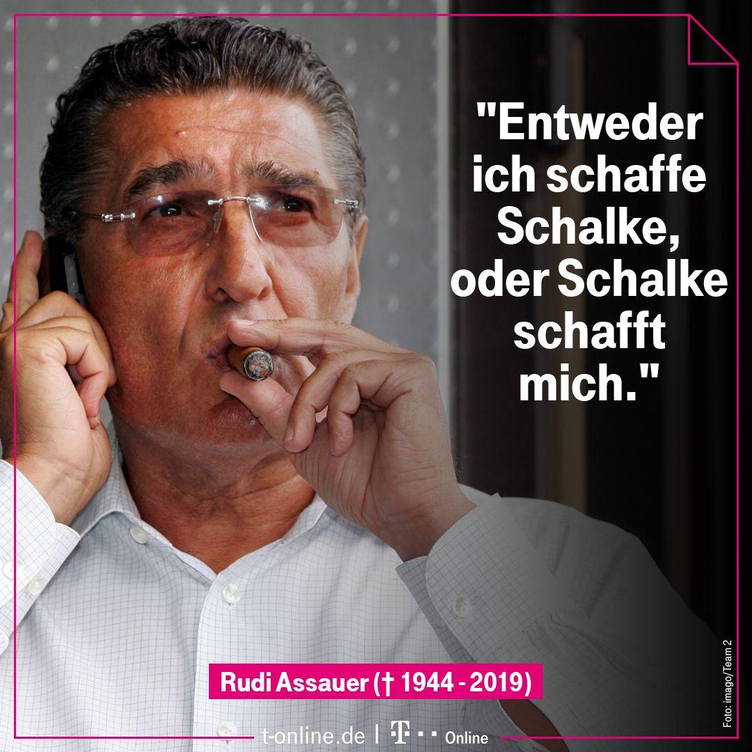 T Onlinede в Twitter Rudi Assauer Fehlt At S04 Und Dem