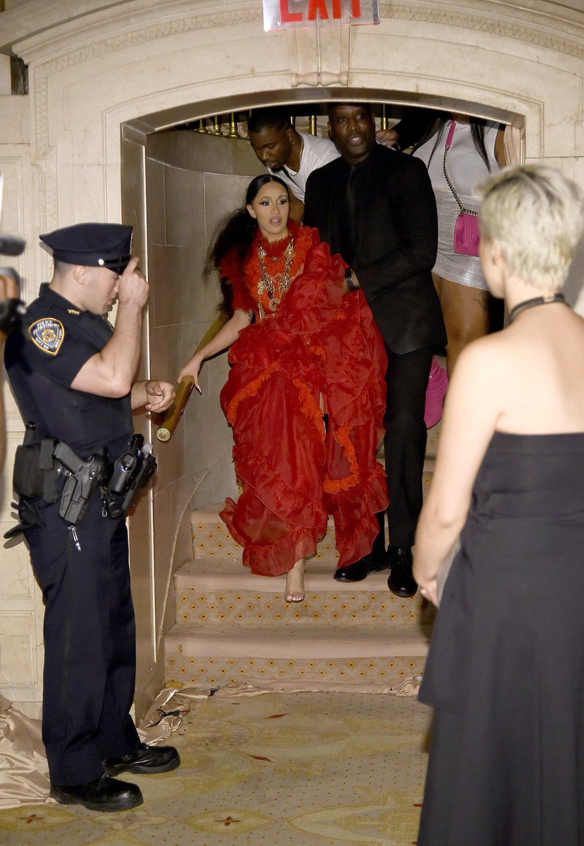 Cardi B recreated the aftermath of her fight with Nicki Minaj, at the Harper's Bazaar Fashion Show, on the Cover of Harper's Bazaar..  THIS. IS. ICONIC!!!!!!