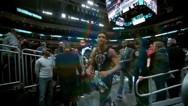 Malcolm Brogdon walks off after the @Bucks home victory! #PhantomCam #FearTheDeer