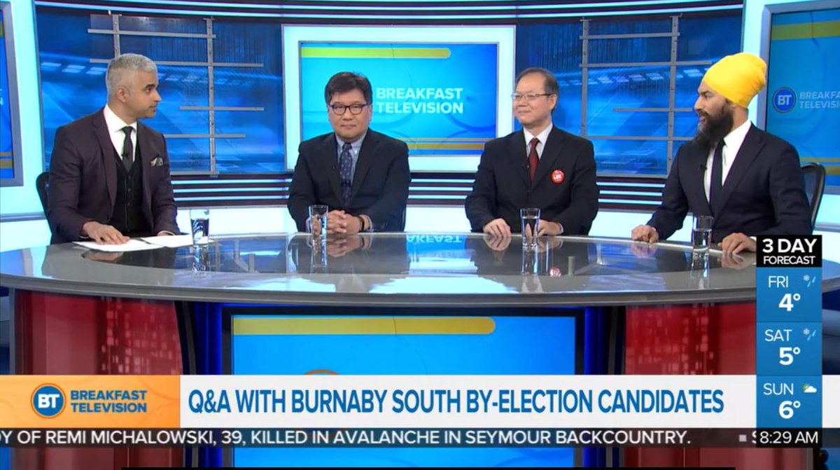 ICYMI: Q&A with #Burnaby-South by-election candidates on @BT_Vancouver   We heard from the three candidates representing parties with official status in the House of Commons ahead of the by-election on February 25th.   You can watch the full Q&A here:  https://t.co/3IXDO43kLy