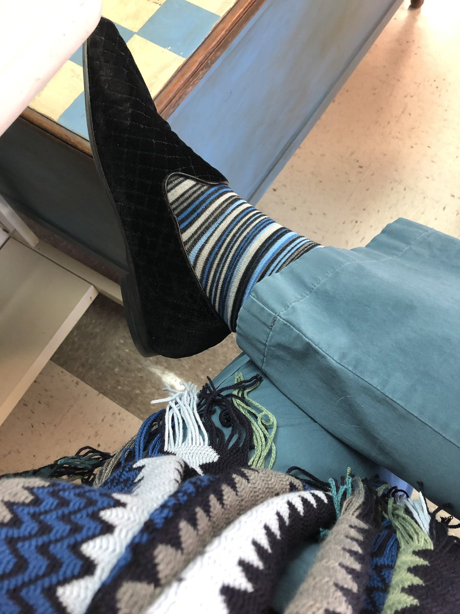 Scarf, striped #Sockgame and the Thursday blues. <br>http://pic.twitter.com/QW5VFXqriW
