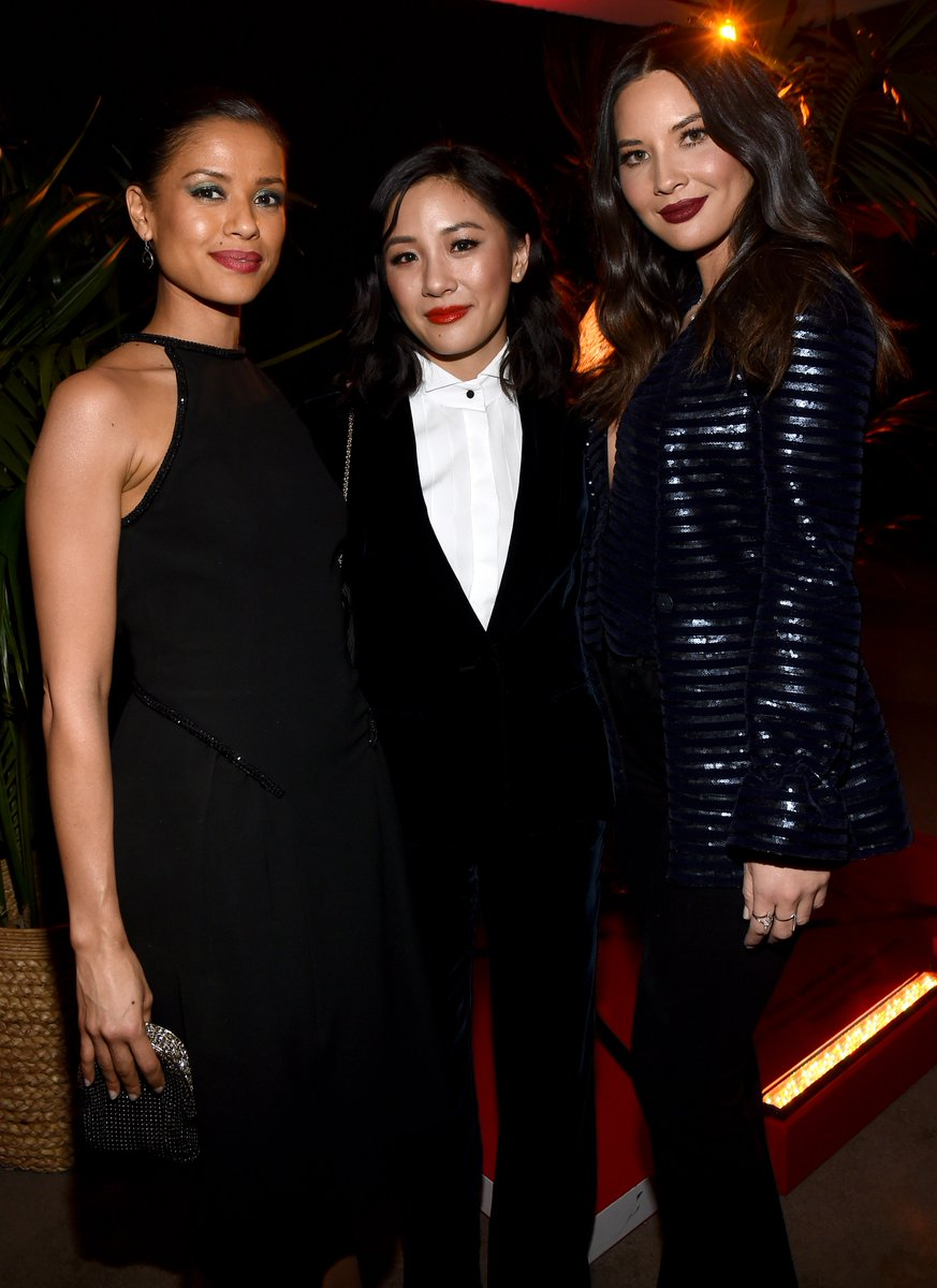 Gugu Mbatha-Raw, Constance Wu, and Olivia Munn glowing and glamorous at the Variety x Armani Beauty Makeup Artistry Dinner <br>http://pic.twitter.com/x5wMsqGrho