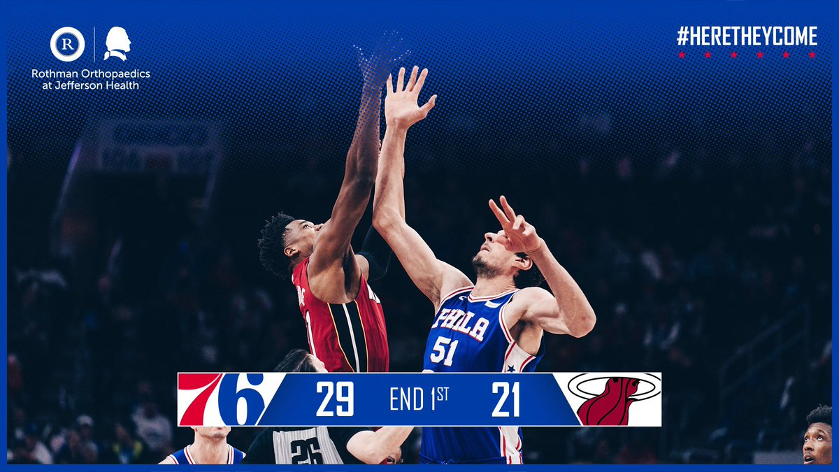 One in. Three left.   📺: @NBCSPhilly+ 🖥️: http://sixe.rs/nbcsp-stream        📻: @975TheFanatic  🌍: http://sixe.rs/league-pass-18