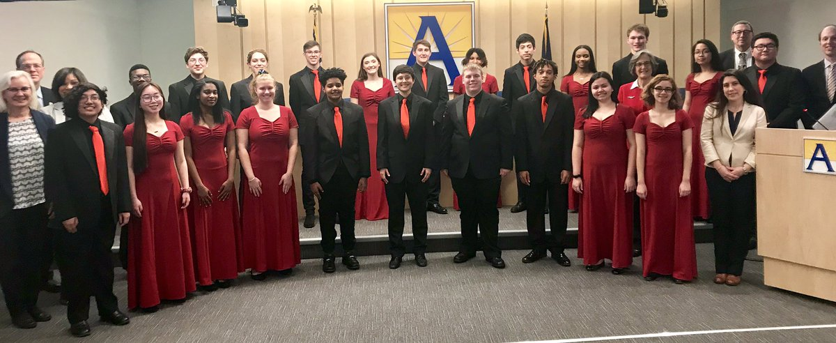 """Beautiful performance of """"Lift Every Voice and Sing"""" by the Wakefield Chorus at tonight's School Board Meeting. Thank you! 👏👏<a target='_blank' href='http://twitter.com/WHSHappenings'>@WHSHappenings</a> <a target='_blank' href='http://twitter.com/JustSingIt3'>@JustSingIt3</a> <a target='_blank' href='http://twitter.com/APSVaSchoolBd'>@APSVaSchoolBd</a> <a target='_blank' href='https://t.co/OBJZBttC1y'>https://t.co/OBJZBttC1y</a>"""