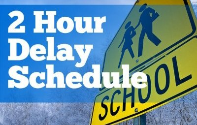 Now, it&#39;s for real! 2 Hour Delay on FRIDAY <br>http://pic.twitter.com/wRAjUWqaP9