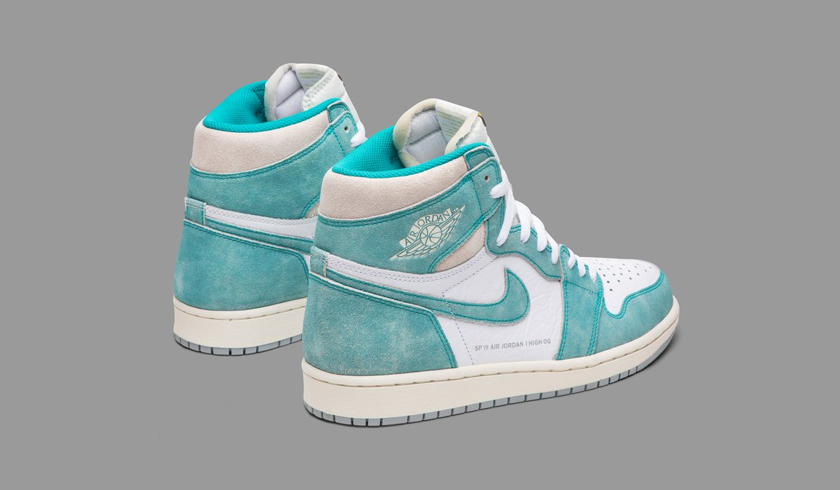 158637b5a7b5c7 The Air Jordan 1 Retro High OG  Turbo Green  complements the silhouette s  clean lines with a classic two-tone design.