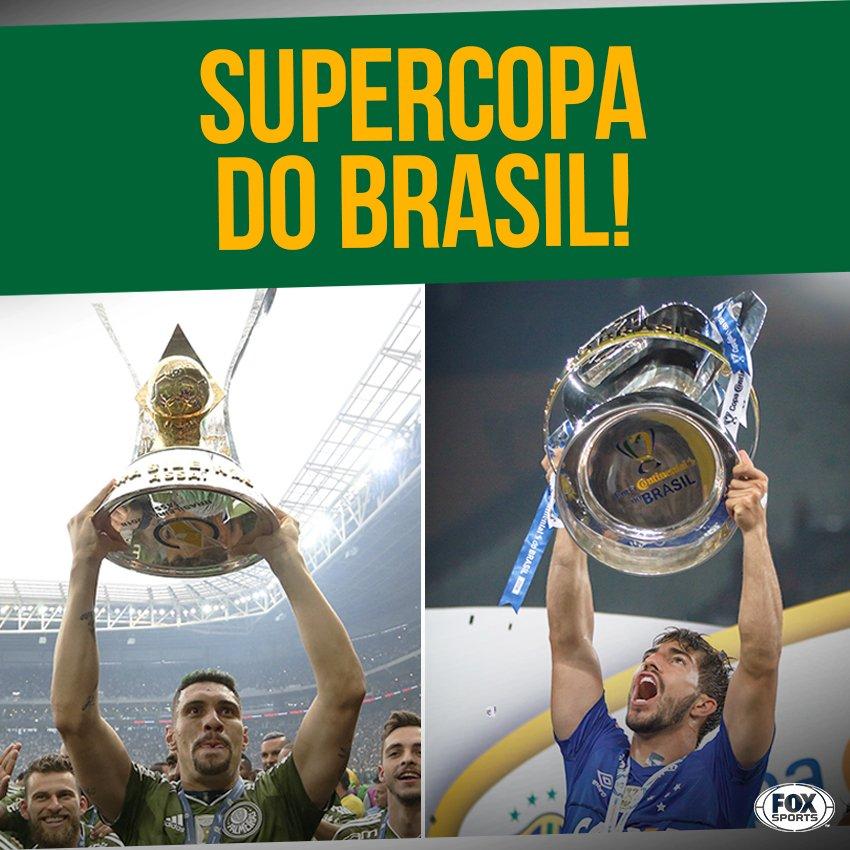 🇧🇷🏆 NOVIDADE NO CALENDÁRIO! A CBF anunciou que, a partir de 2020, os campeões do Brasileirão e da Copa do Brasil se vão se enfrentar na Supercopa do Brasil em jogo único!  Se o torneio já existisse, a final desse ano seria decidida entre @SEPalmeiras @Cruzeiroe .