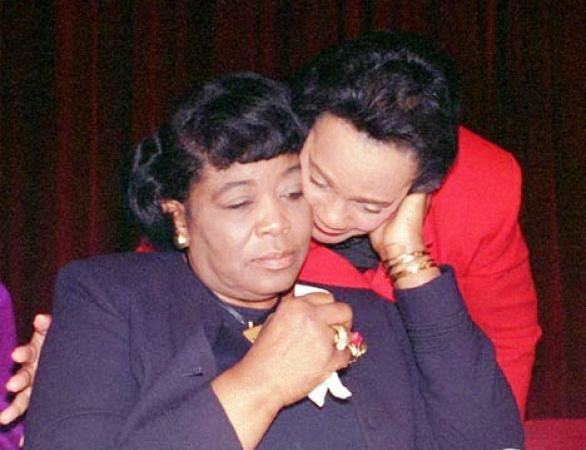 My mother, #CorettaScottKing, and #BettyShabazz were dear friends. Not only were both of their husbands renowned activists and leaders who were assassinated, but both women were extraordinary leaders who persisted. #MalcolmX #MLK