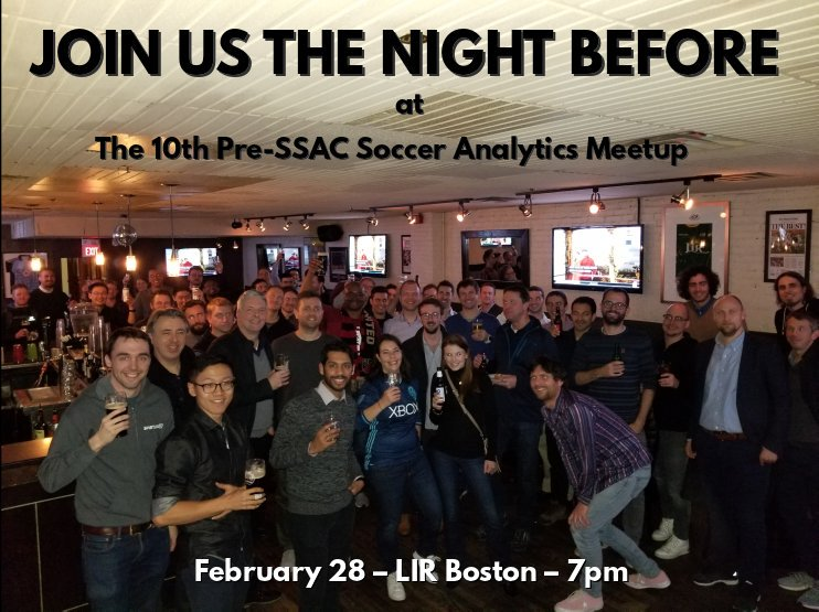test Twitter Media - No, I won't be at #SSAC19...  ...but I'm coming to Boston anyway, just to host the Soccer Analytics Meetup!  Join us next Thursday. https://t.co/qpgeR0mA5K