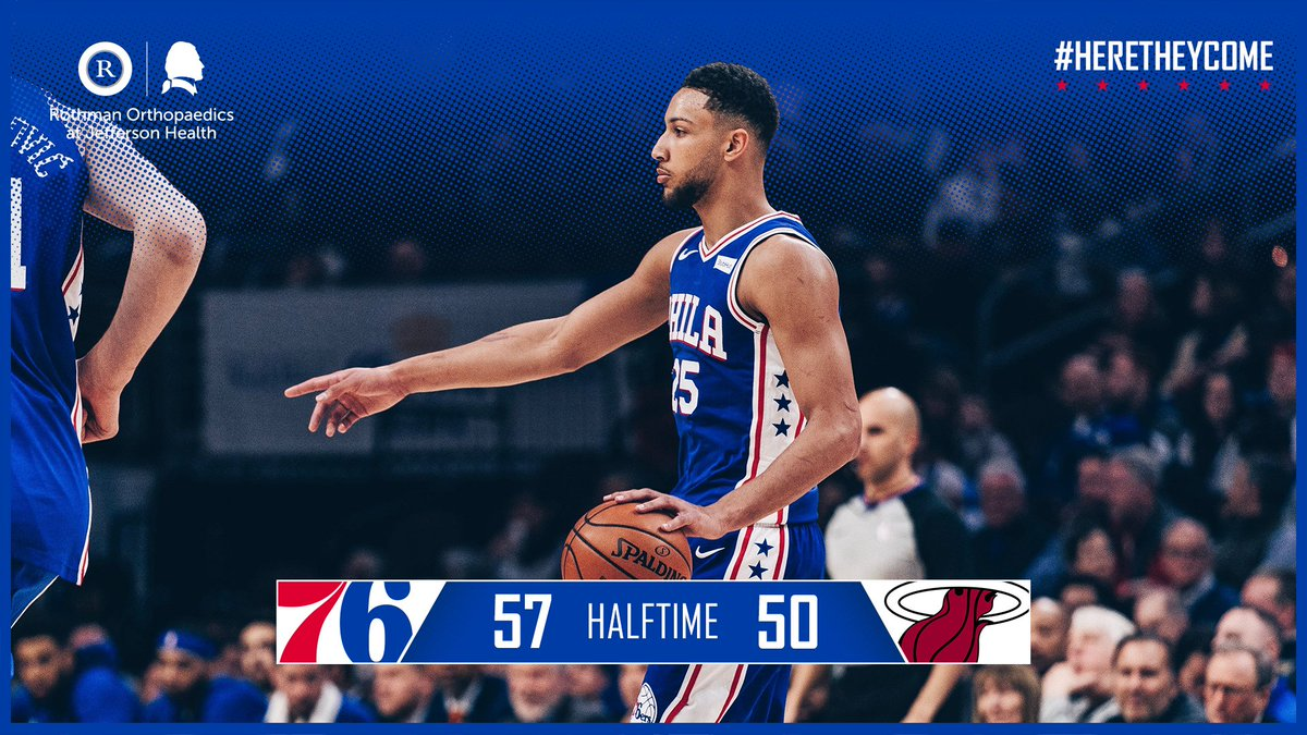 Halfway there.  📺: @NBCSPhilly+ 🖥️: http://sixe.rs/nbcsp-stream        📻: @975TheFanatic  🌍: http://sixe.rs/league-pass-18