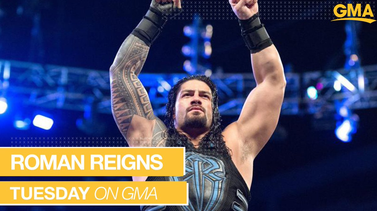 NEXT TUESDAY ON @GMA: @WWERomanReigns joins us LIVE in Times Square! https://t.co/W1vUNLSAev