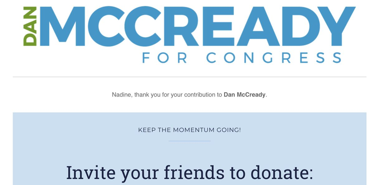 I just donated to @McCreadyForNC. They've declared a NEW ELECTION in #NC09. Please consider a donation to help kickstart his campaign and help turn #NC09 blue!  No amount too small.  #VOTEDEMOCRAT #VOTEBLUE  https://secure.actblue.com/donate/dmc-new-race?refcode=social_twt_02212019…