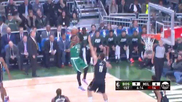 WHAT A SHOT KYRIE!   (via @NBA)