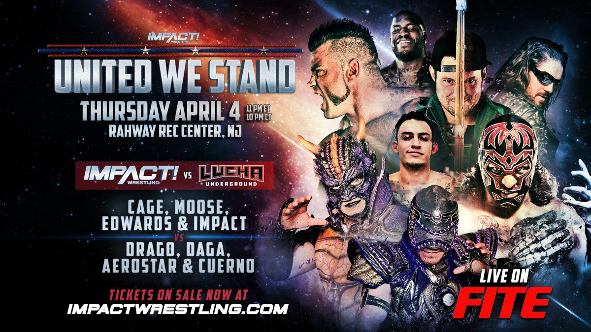 Resultado de imagem para IMPACT United We Stand impact wrestling vs. lucha